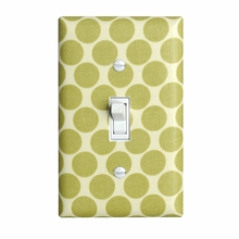 Green Dots Light Switch Plate Cover