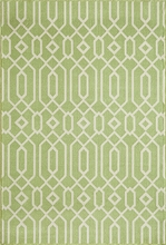 Green Geometric Baja Rug