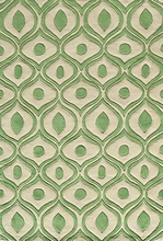 Green Geometric Bliss Rug