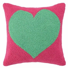 Green Heart Hook Pillow
