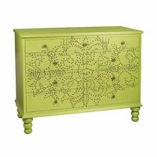 Green Nailhead Medallion Chest