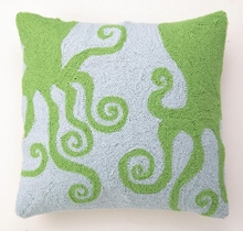 Green Octopus Hook Pillow