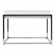 Greta Side Table in White Lacquer and Chrome