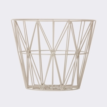 Grey Large Wire Basket