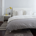 Grey Pebble Reversible Queen Duvet Cover