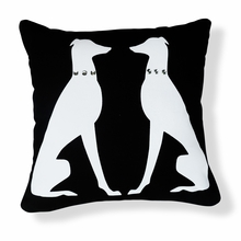 Greyhound with Jewels Reversible Throw Pillow