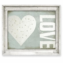Grungy Love Framed Canvas Wall Art