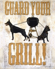 Guard Your Grill Canvas Wall Art