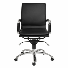 Gunar Pro Low Back Office Chair in Black Leatherette and Chrome