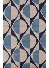 Half Dot Rug in Deep Navy