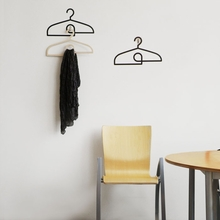 Hangers in Black Wall Decal