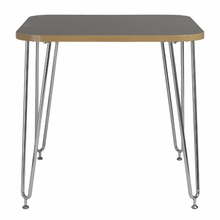 Hanh Activity Table in Gray and Chrome