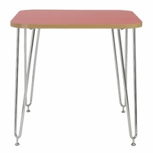 Hanh Activity Table in Red and Chrome