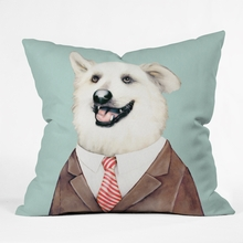 Happy Dog Throw Pillow