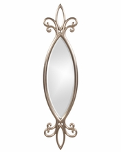 Harper Mirror - Bright Silver Leaf