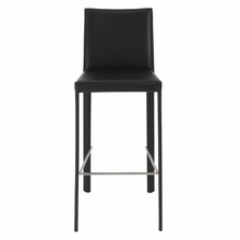 Hasina Bar Stool in Black and Stainless Steel - Set of 2