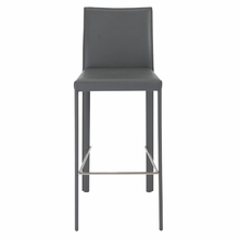 Hasina Bar Stool in Gray and Stainless Steel - Set of 2
