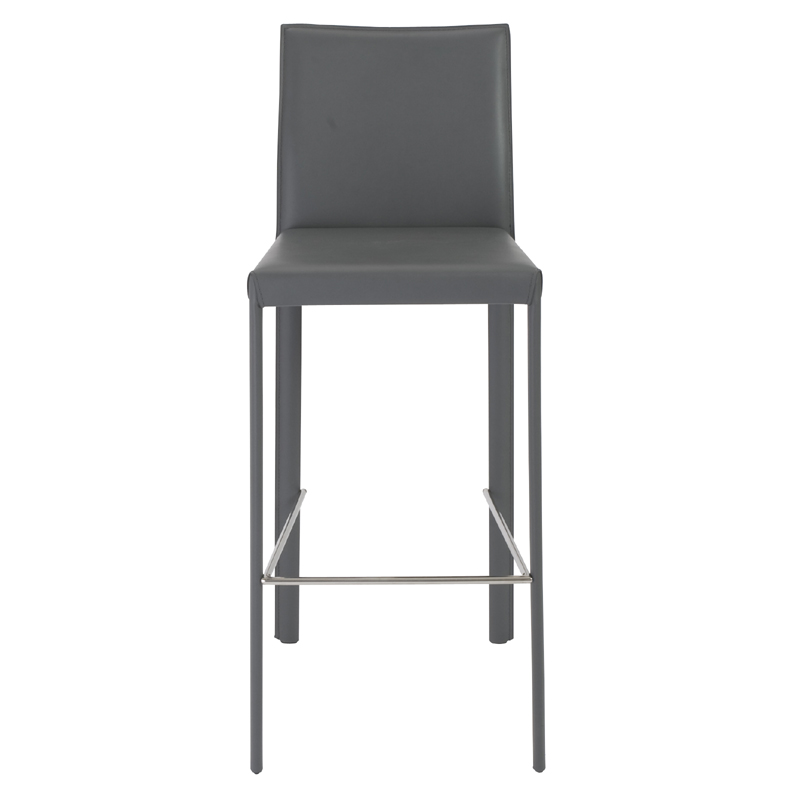 District17 Hasina Bar Stool in Gray and Stainless Steel  : hasina bar stool in gray and stainless steel set of 2 25 from www.district17.com size 800 x 800 jpeg 76kB