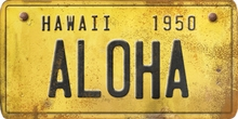 Hawaii Custom License Plate Art