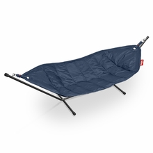Fatboy Headdemock In Dark Blue with Black Rack Beanbag
