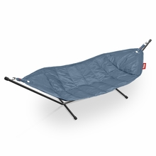 Fatboy Headdemock In Jeans Light Blue with Black Rack Beanbag