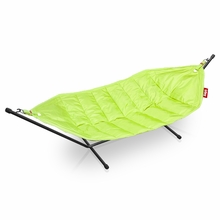 Fatboy Headdemock In Lime Green with Black Rack Beanbag