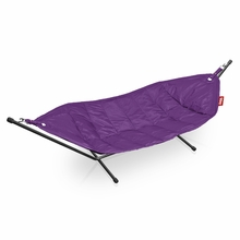 Fatboy Headdemock In Purple with Black Rack Beanbag