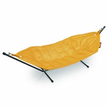 Fatboy Headdemock In Yellow Ochre with Black Rack Beanbag