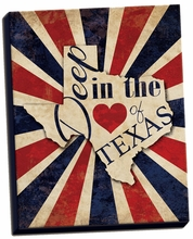 Heart of Texas Canvas Wall Art