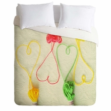 Heart Strings Lightweight Duvet Cover