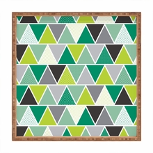 Heather Dutton Emerald Triangulum Square Tray