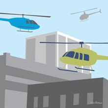 Helicopters Canvas Wall Art