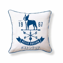 Hello Boston Weathervane Reversible Throw Pillow
