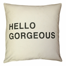 Hello Gorgeous Throw Pillow