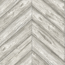 Herringbone Textured Ash Removable Wallpaper