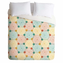 Hexagon Weave Lightweight Duvet Cover