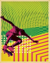 High Voltage Skate Canvas Wall Art