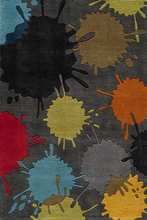 Hipster Gray Paint Ball Rug