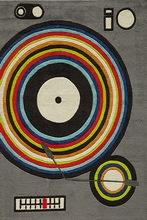 Hipster Record Player Rug