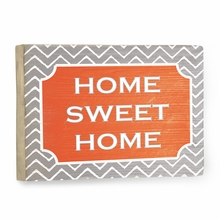 Home Sweet Home Chevron Vintage Wood Sign