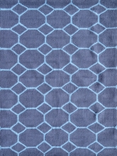 Honeycomb Blue Rug