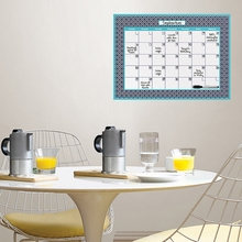 Honeycomb Monthly Peel & Stick Dry-Erase Calendar