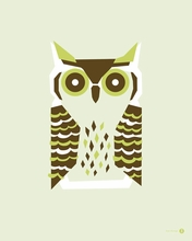 Horned Owl Canvas Wall Art