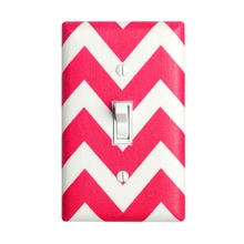 Hot Pink Chevron Light Switch Plate Cover