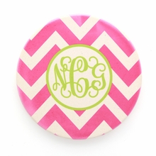 Hot Pink Chevron Monogram Coaster Set