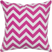 Chevron Throw Pillow in Hot Pink