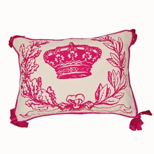Hot Pink Crown Throw Pillow