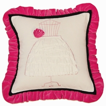 Hot Pink Dress Form Throw Pillow