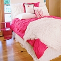 Hot Pink Pin-Tucked Duvet Cover