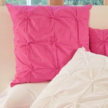 Hot Pink Pin-Tucked Euro Sham